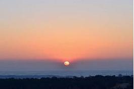 夕日がきれいな自然に囲まれた場所